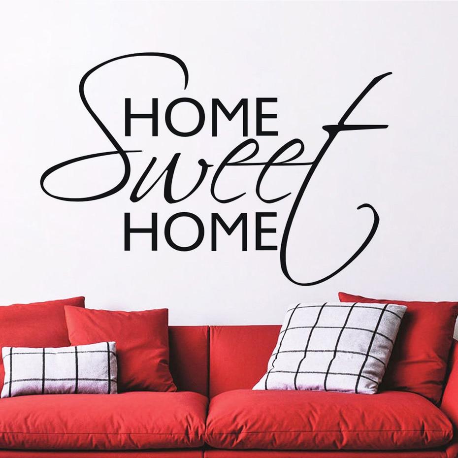 Adhesivos de pared con frase creativos con palabras artísticas dulce decoración hogar autoadhesivo decorativo extraíble Diy vinilo pegatinas de pared JD3575B1