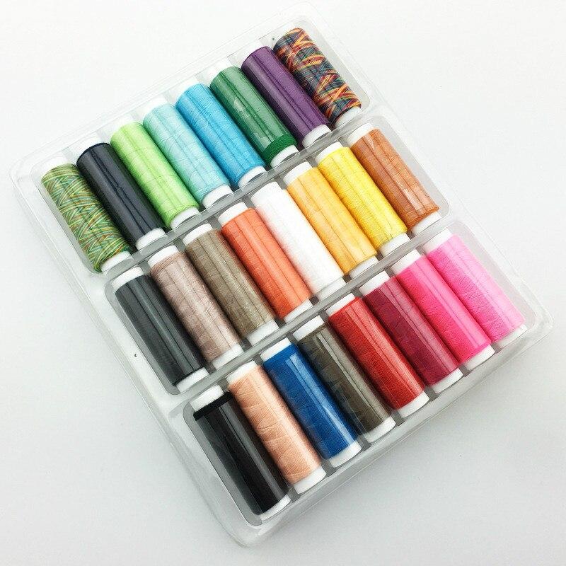 Kit de hilos para costura con colores mezclados conjunto de hilos DIY paquete de 24 Uds para coser a mano o a máquina