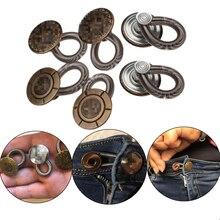 Hoge Kwaliteit 6 stk/set Vrouwen Mannen Jeans Broek Knoppen Fix Expanders Taille Stretch Extender Metalen Knop DIY Kleding Naaien Tool 1.9cm