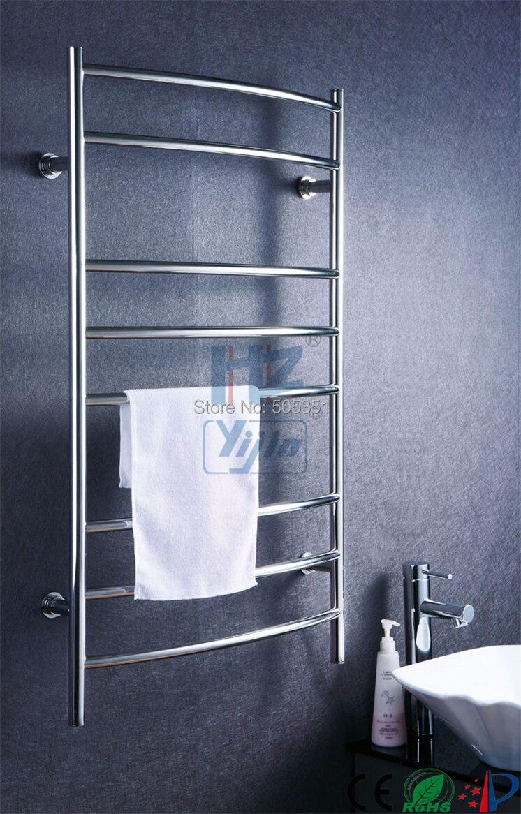 Yijin Curved electric heated towel rail warmer towel dryer electric stainless steel radiators HZ-914AS