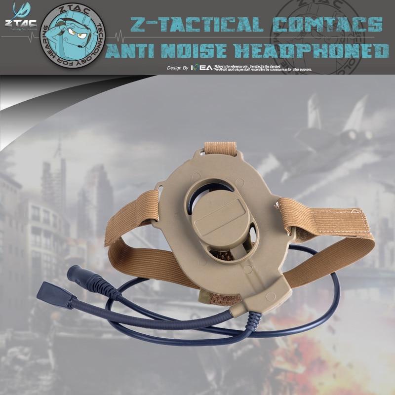 Фото - Z-TAC Military Airsoft Bowman Elite II  Tactical Headset  Air duct earphone for walkie-talkie Z027 tactical bowman elite ii radio headset earpiece with u94 style ptt for midland 2 pin walkie talkie g6 g7 gxt550 gxt650 lxt80 lx