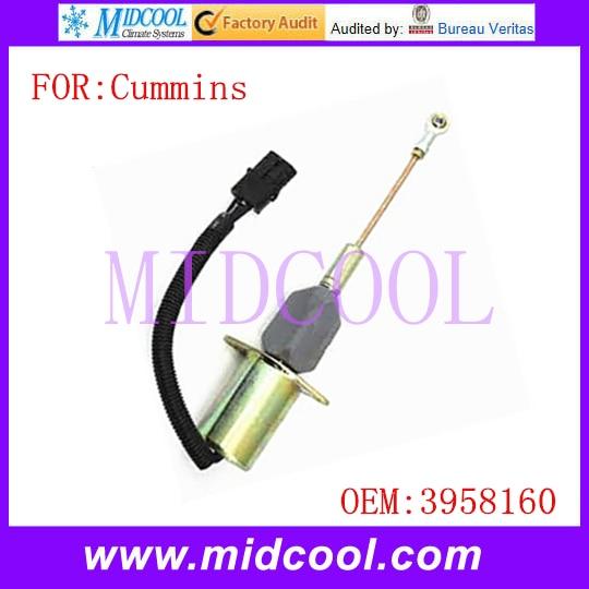 Nueva válvula de solenoide de apagado y parada de combustible para motor de coche utiliza OE NO. 3958160 para Cummins