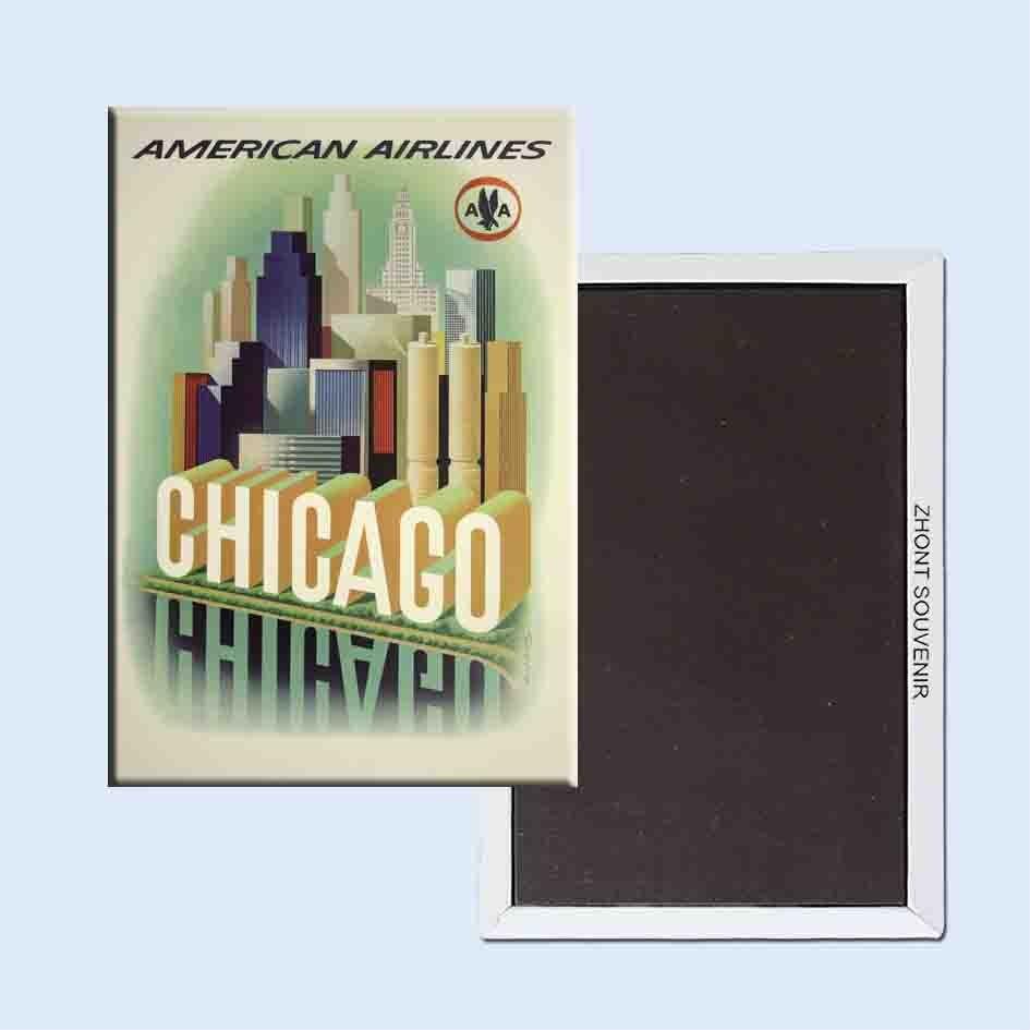 American airlines chicago henry k. Bencsath 24048 retro nostalgia frigorífico ímãs