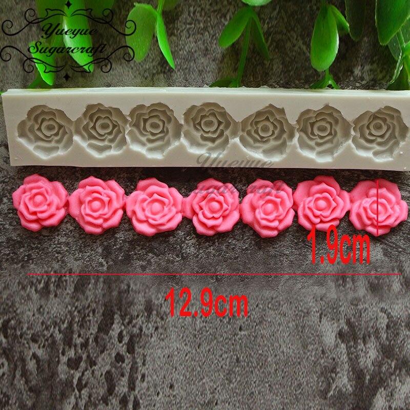 Yueyue Sugarcraft силиконовая форма в виде цветка розы помадка форма для украшения торта инструменты форма для шоколадной мастики выпечки
