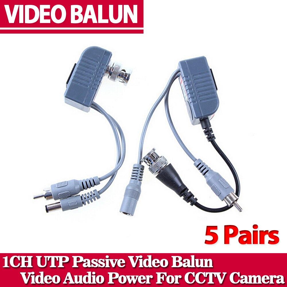Hot UTP CCTV BNC video Balun power Passive Balun Rj45,POE Power Video Audio 3 in 1 Transceivers CCTV spare parts free shipping