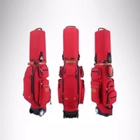 new golf aviation bag portable golf package golf travel bag pu cover thicken air bag with wheels