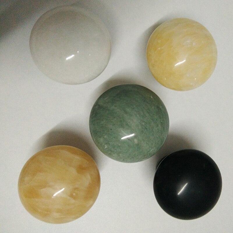 ¡Nuevo tipo! Barniz Natural/Verde/Rosa Jade masaje hongo negro piedra sibin Bian facial ojos belleza caliente energía bin piedra spa