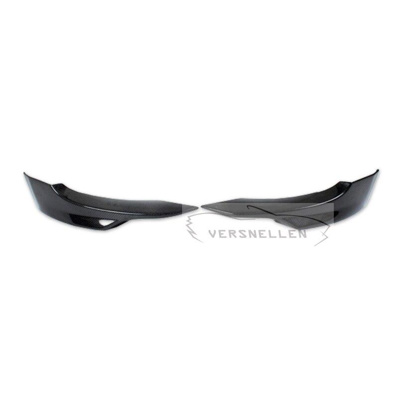 Delantales de divisor de labios de parachoques delantero de fibra de carbono tipo P para BMW Serie 3 E92 Coupe M-Tech M -coche deportivo 2007-2009