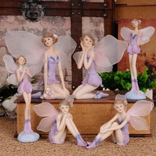 Beautiful Girl Resin Angel Home Decor Miniature Flower Fairy Figurines Statues Wedding decoration Birthday Gifts