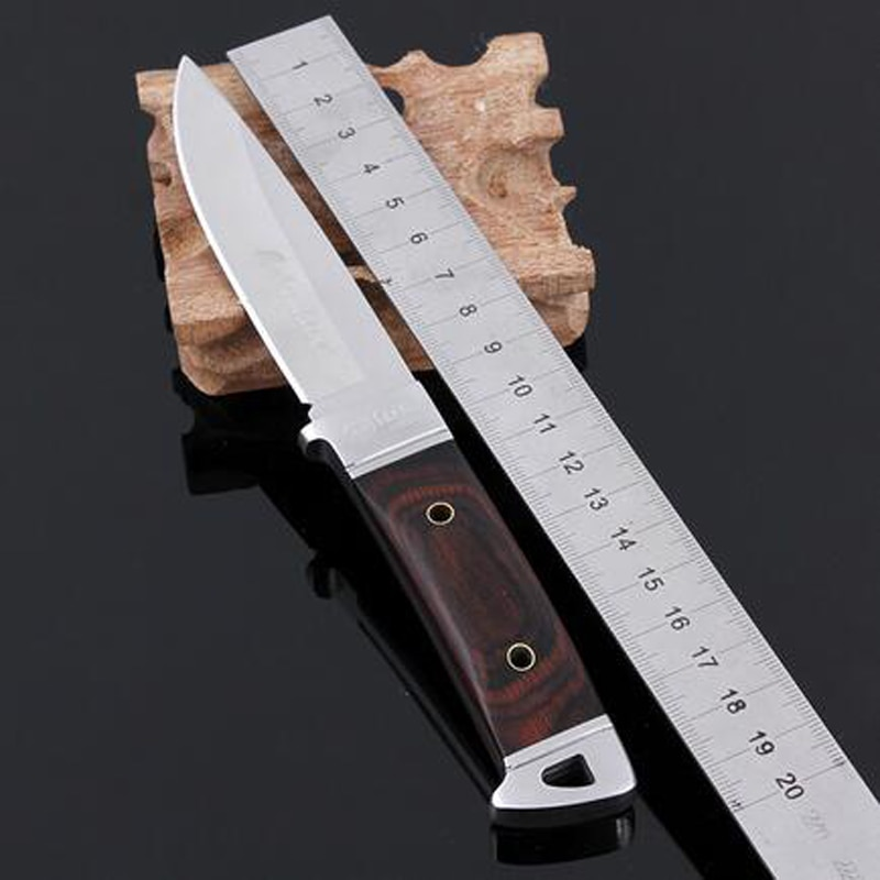 Cuchillo de caza de acero inoxidable Navajas Cuchillo Mes Cuchillo de caza de supervivencia de campamento
