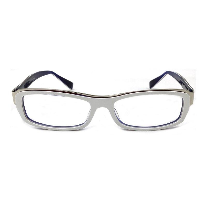 Лаура Феи модный стиль Цветные Блоки белые оправы для очков полная оправа из нержавеющей стали ацетат пэчворк оптические очки оправа для му...