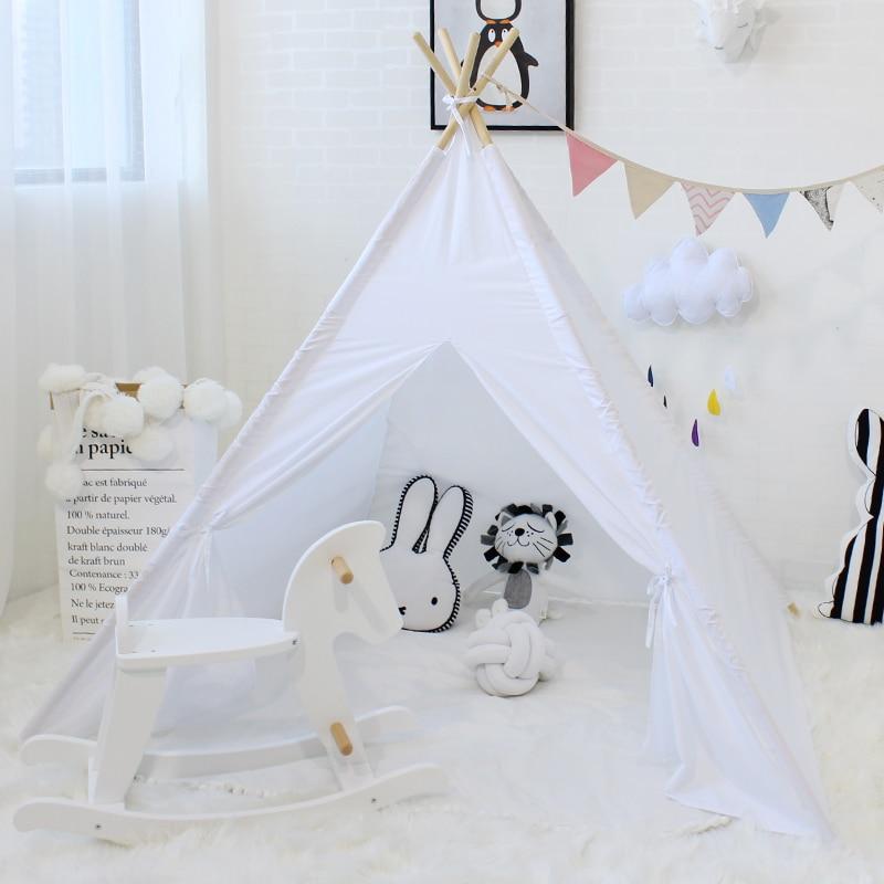 De los niños tienda de juego de Casa de juegos para niños, tienda Tipi, decoración de la habitación de bebé plegable Tipi niños juguete de cabina Wigwarn Extra 5 USD cupón