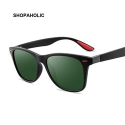Óculos de sol unissex polarizado, óculos de sol unissex quadrado com proteção uv400