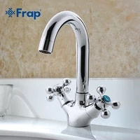 FRAP robinet de salle de bains en argent  mitigeur devier a double poignee  commutateur de separation chaud et froid F1319