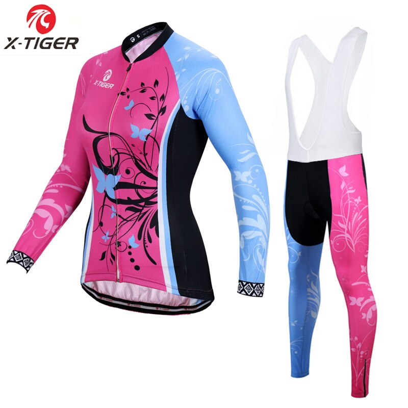 X-tiger, conjunto de Jersey de invierno de lana térmica para ciclismo, ropa de ciclismo de montaña de manga larga, uniforme, ropa de ciclismo, traje