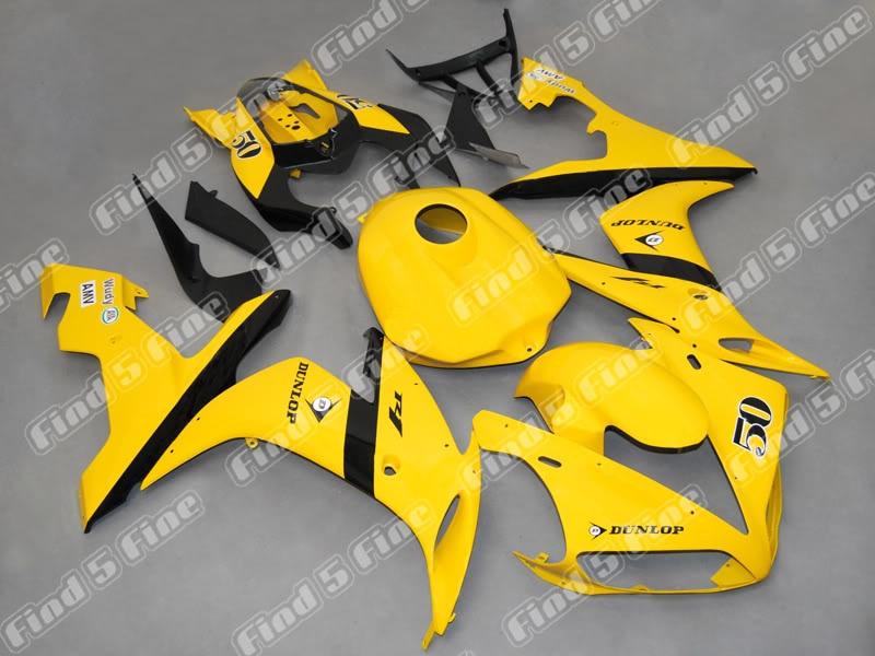Amarillo negro cuerpo para YAMAHA YZFR1 04-06 YZF R1 2004-2006 04 05 06 YZF-R1 2004 2005 2006 ABS carenado de la motocicleta kit