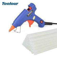 Pistolet à colle thermofusible Toolour EU/US 100-240V 20W pistolet à colle 40/10/1 pièces 7mm * 150mm colle bâtons Mini pistolets Thermo Gluegun outil de réparation de chaleur