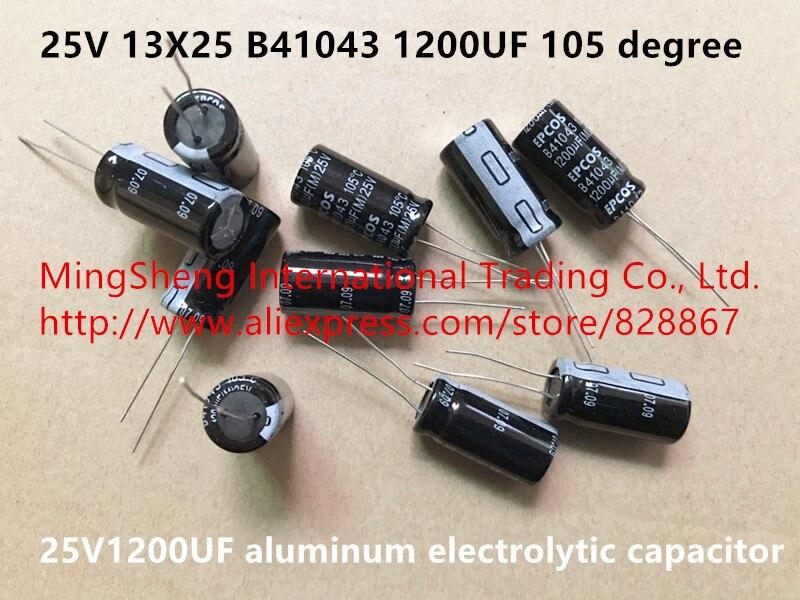 Condensador electrolítico de aluminio 25V, 13X25, B41043, 1200UF, 105 grados (Inductor), Original, nuevo, importado de Alemania, 25V1200UF