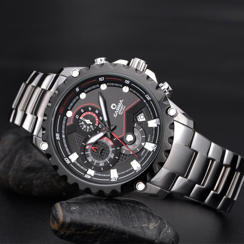 CASIMA Top Brand Fashion Chronograph Sport Watch Waterproof Luminous Military Quartz Wristwatch Clock For Men Relogio Masculino enlarge