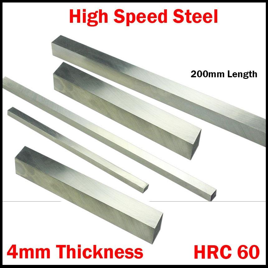 200*14*4 200x14x4 200*16*4 200x16x4mm espessura hrc60 hss retângulo metalurgia broca barra mosca cortador ferramenta torno de corte bit
