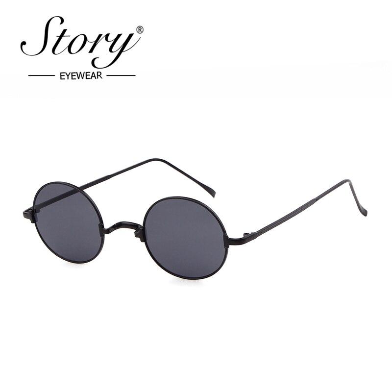 STORY retro round sunglasses women men 2019 luxury brand designer vintage personality bridge small frame glasses shades S128U