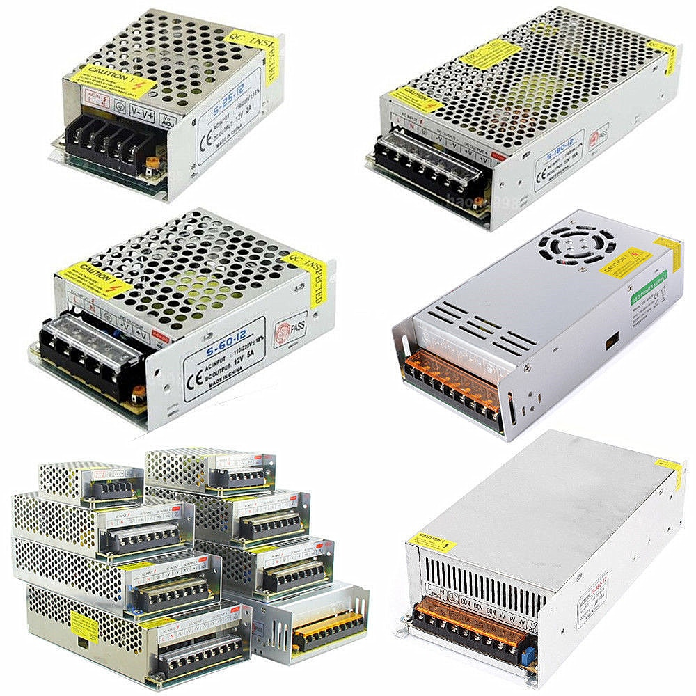 adaptador de fonte de alimentacao transformador ac 110v 220v para 12v dc 2a 3a 5a