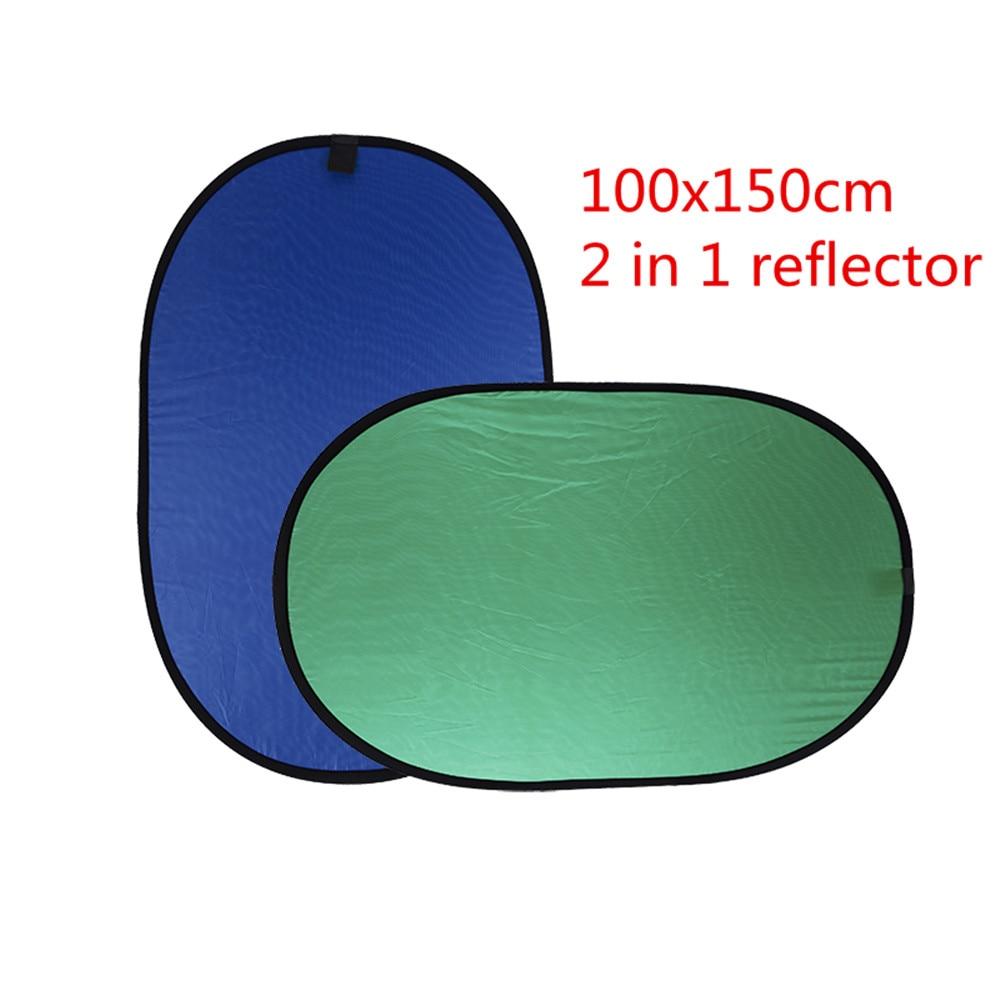 CY Novo 100x150 cm Refletor Dobrável Nylon Blue & Green (2in1) painel para Foto & Video Studio Backdrop Fotografia
