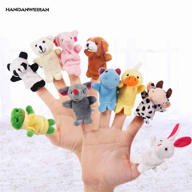 HANDANWEIRAN 10 шт./компл. ПП хлопковые новые взрывобезопасные мягкие игрушки креативные милые Мультяшные животные куклы на палец Обучающие игруш...