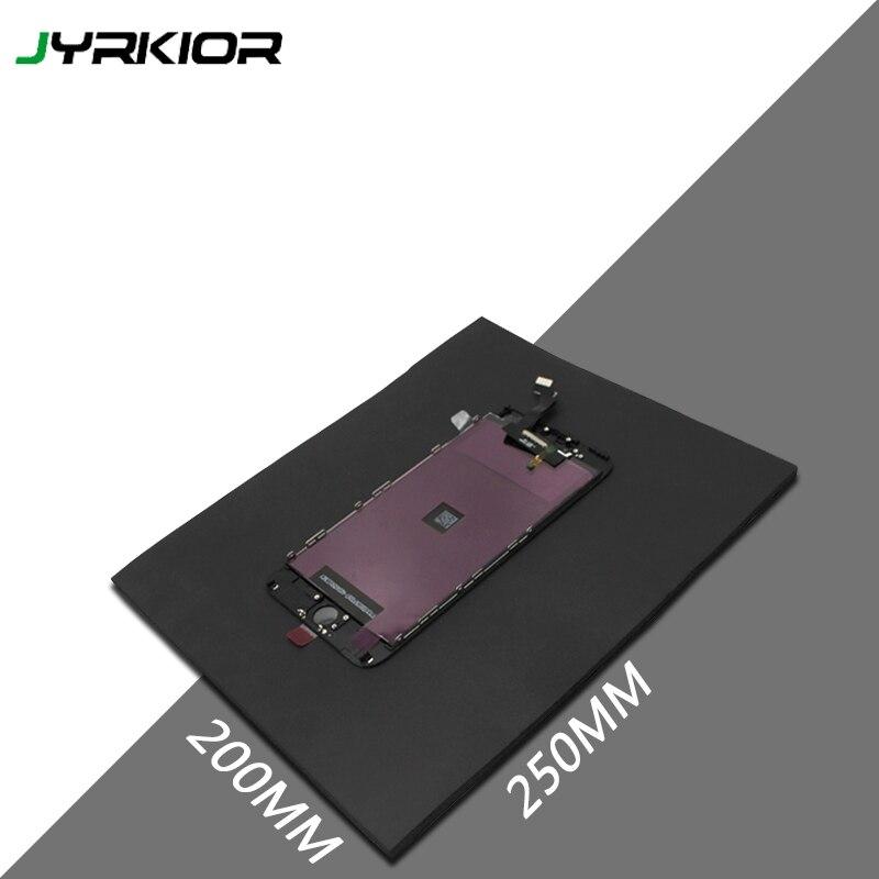 Jyrkior 250*200mm czarny importowane gąbka Pad Laminator magia gumowa mata dla iPhone Samsung ekran LCD odnowiony Laminator