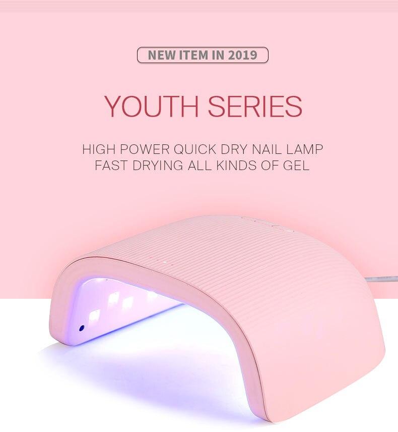 48W UV LED Nail Art Lamp Nails Dryers For Gel Manicure Set Sun Light Curing Varnish Polish Nail Lamps Machine Tools Wholesale