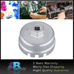 """64.5mm chave do filtro de óleo 3/8 """"tampa de acionamento habitação ferramenta removedor 14 flautas universal para toyota corolla/camry/prius/auris"""