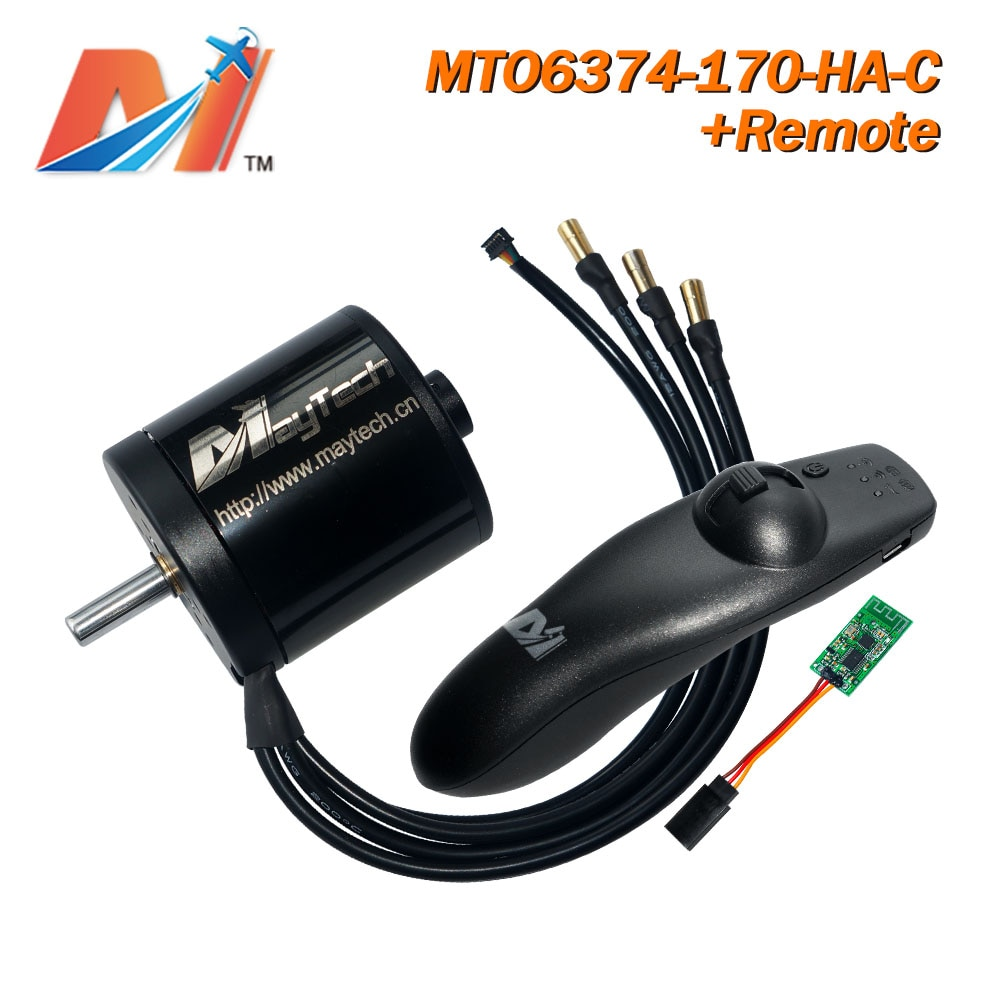 Maytech 2 uds Kit de patineta eléctrica 6374 170KV electro motor y rc controlador y receptor