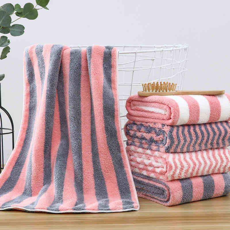 Raya ondulada microfibra de secado rápido para niños toalla para lavado de bebé Toalla de baño adulto Super suave absorbente Toalla grande