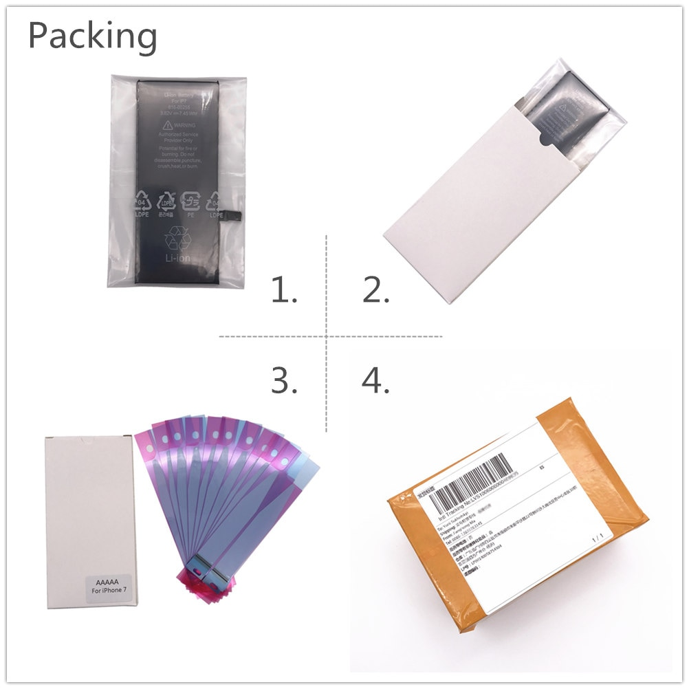 5pcs/lot 2019 AYJ AAAAA Quality Battery for iPhone X Battery TI Protection Replacement 2716mAh Real Capacity Cobalt Sticker enlarge
