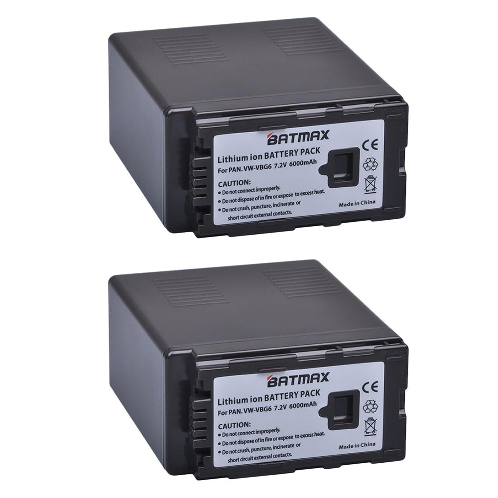 2X высокоемкие батареи 6000 мАч VW-VBG6 VWVBG6 VBG6, VW-VBG6GK для AG-AC130 , AG-AC160 , AG-AF100 , AG-AF100A