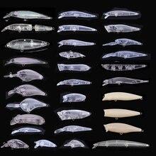20 pièces types de appâts vierges non peints appâts durs appâts de pêche corps de leurre sattaquer au leurre méné 3g 4g 6g 7g 9g 11g 15g Wobblers