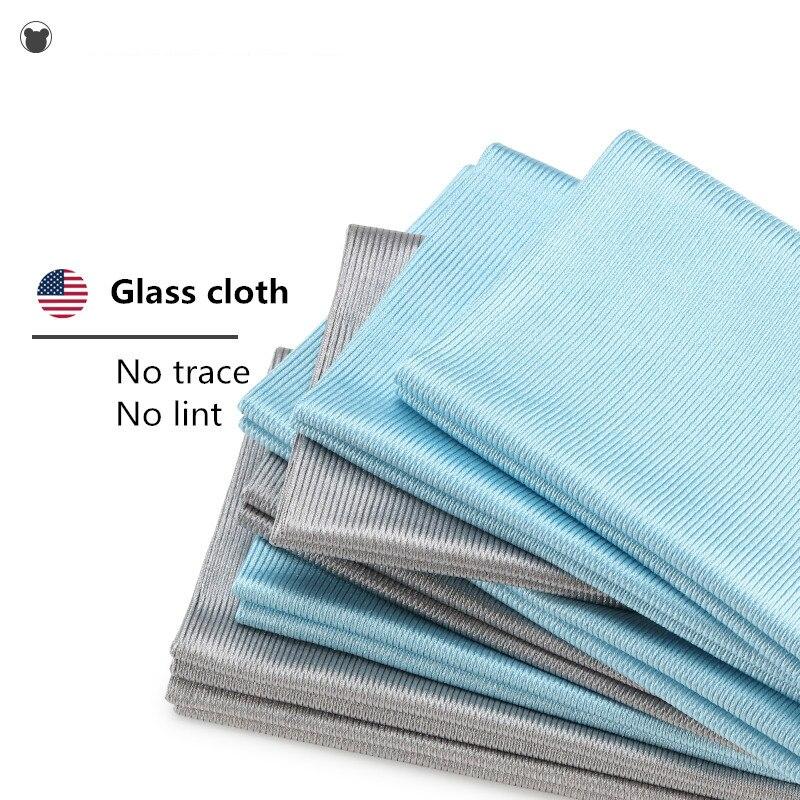 BAER AILE 5 PCS Yüksek kalite Ev temizlik bezi yumuşak Ayna temizlik havlu Cam silme bezi duş odası temizleme 40*40 cm