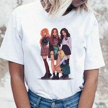 Blackpink camiseta t-shirt t-shirt camiseta mulheres vestuário coreano engraçado harajuku ulzzang para gráfico top feminino