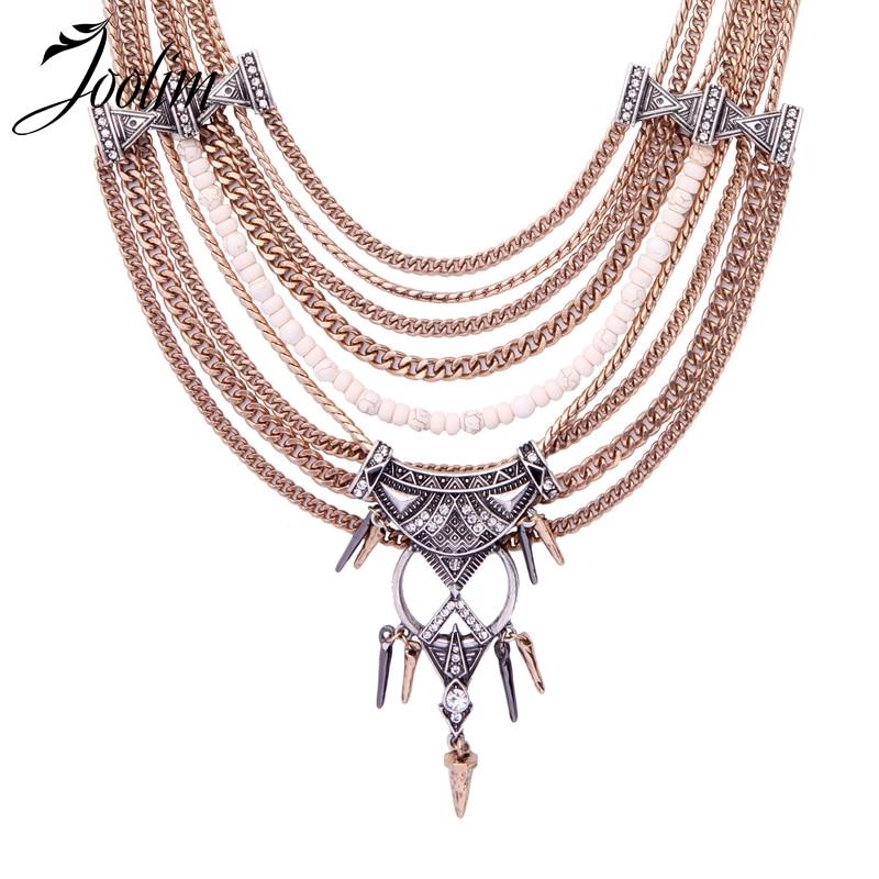 JOOLIM Collar de nudo ajustable de múltiples capas antiguo Collar de moda joyería al por mayor