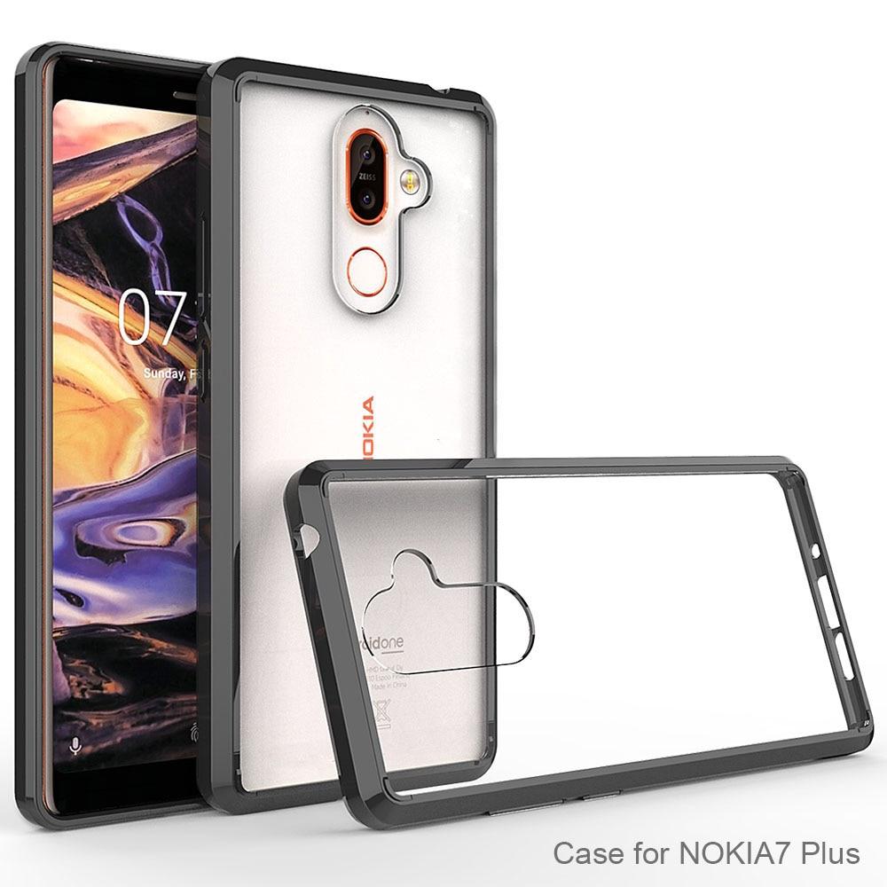 Мягкий Силиконовый ТПУ/ПК чехол для Nokia 7 Plus, защитные чехлы, оболочка, ударопрочный прозрачный чехол, Жесткий Чехол для Nokia 7 Plus
