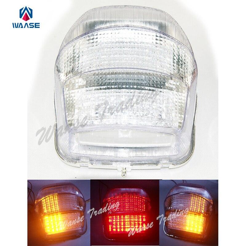 Waase Задние Тормозные Сигналы поворота Встроенная светодиодная лампа прозрачная для 1999 2000 2001 2002 2003-2004 HONDA Blackbird CBR1100XX