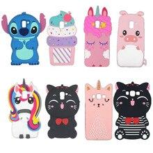 3D Silicon cat pig unicorn Cartoon Soft Phone Case Cover For Samsung Galaxy J1 J2 J3 J5 J7 Grand Prime J4 J6 J8 Plus Grand Prime