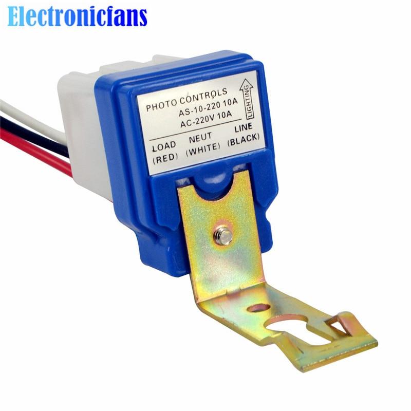 Automatische Auto On Off Street Light Switch Foto Control Sensor Schalter AC 220V 10A