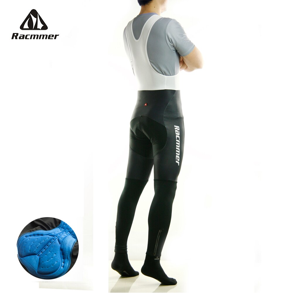 Racmmer-Pantalones largos acolchados para Ciclismo, mallas de Gel 5D para bicicleta de...