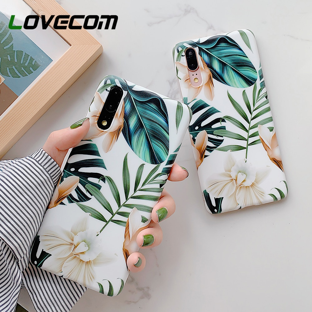 LOVECOM Retro Flower Leaf Phone Case With Ring For Huawei P20 P30 P40 Lite P20 P30 Pro Mate 20 30 Li