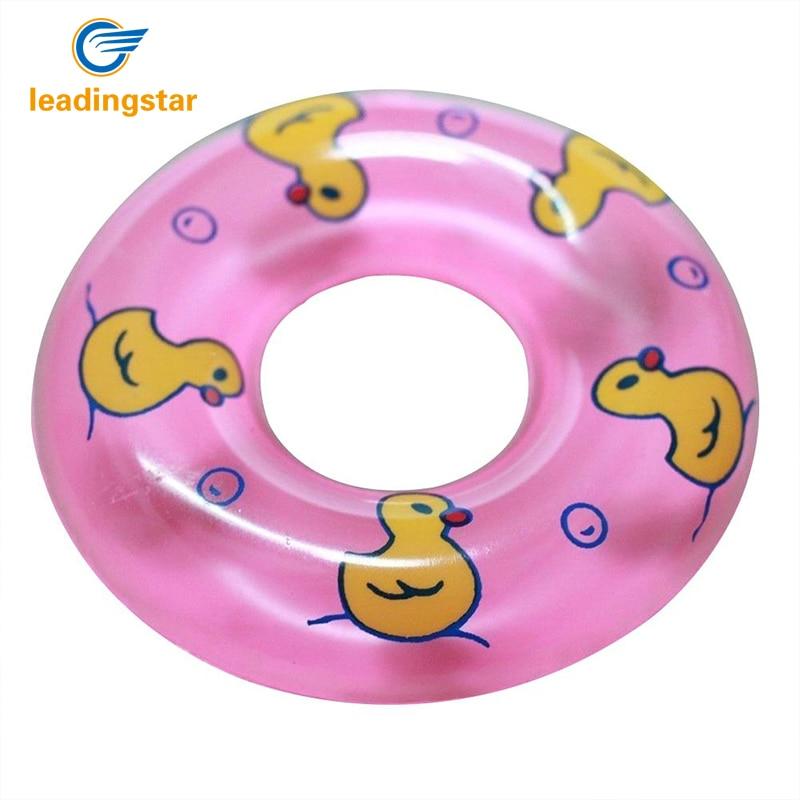 None 2 шт детская игрушка для ванны надувное кольцо плавания пластиковый мини круг