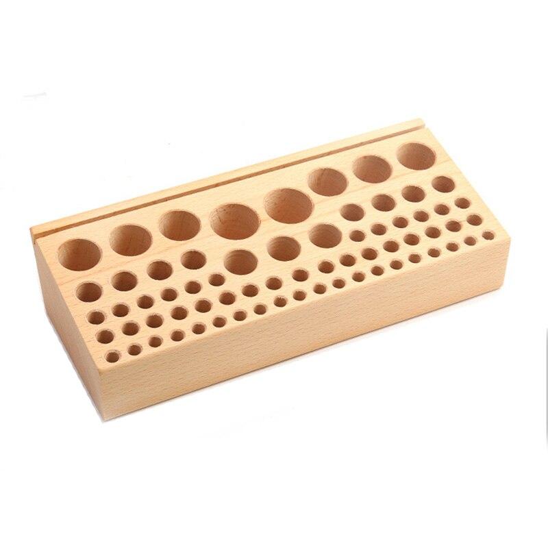 68 buracos craftool couro madeira ferramenta storagetable faia rack de couro titular diy artesanato