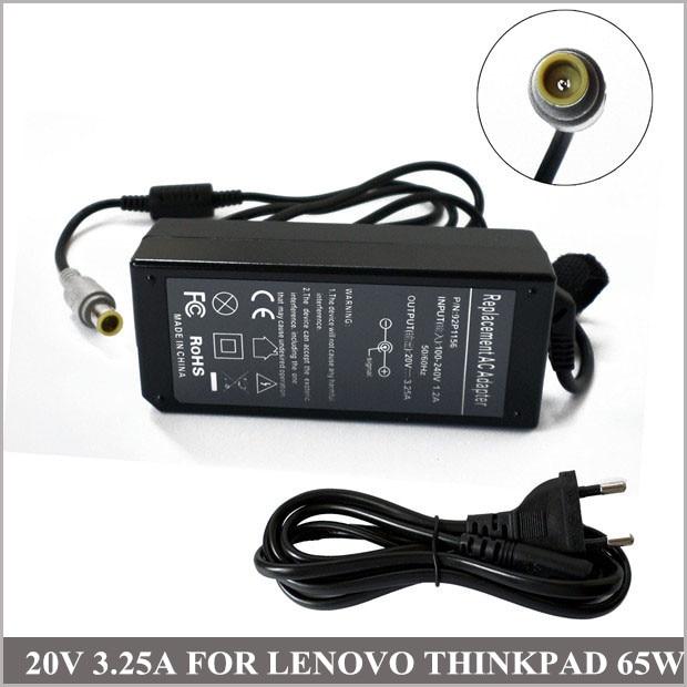 20 V 3.25A 65 W adaptador AC Carregador de Notebook Universal para Lenovo IBM ThinkPad E20 92P1160 92P1211 92P1212 42T4417
