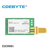 E31-230T17D forte pénétration UART AX5043 230mhz 50mW SMA antenne IoT uhf sans fil émetteur émetteur récepteur Module