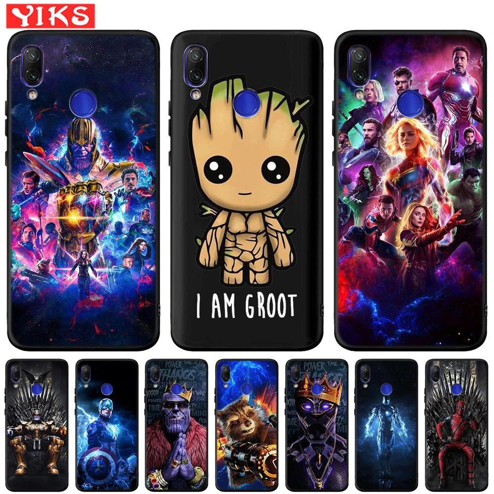 Funda bonita Groot Los vengadores de Marvel Hero para Xiaomi mi Note 7 6 Pro 6A 5A Prime mi A1 5X A2 Lite 6X 4X 5 Plus pocofone F1